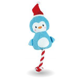 HIPPIE PET Kalėdinis šunų žaislas, pliušinis mėlynas, 30x11x3 cm