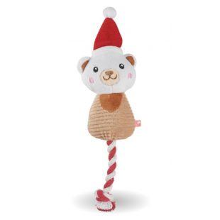 HIPPIE PET Kalėdinis šunų žaislas, pliušinis šviesiai rudas, 30x11x3 cm