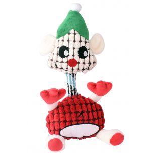 HIPPIE PET Kalėdinis šunų žaislas, pliušinis raudonas, 30x14x4 cm
