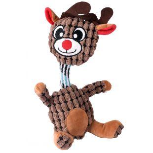 HIPPIE PET Kalėdinis šunų žaislas, pliušinis rudas, 31x14x4 cm