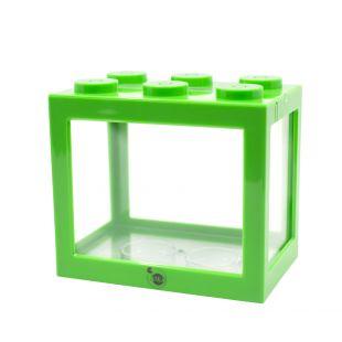 KIKA Akvariumas kaladėlė 16x10.5x14cm, žalias