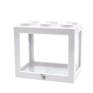 KIKA Akvariumas kaladėlė 16x10.5x14cm, baltas