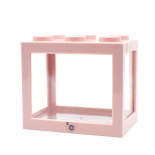 KIKA Akvariumas kaladėlė 16x10.5x14cm, rožinis
