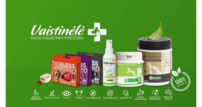 Žalioji vaistinėlė: saugi augintinio priežiūra